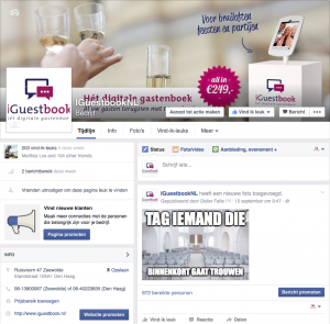 iGuestbook op Facebook